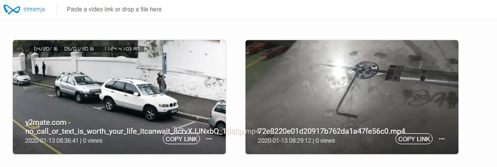 简单快速的视频上传分享网站,可做外链