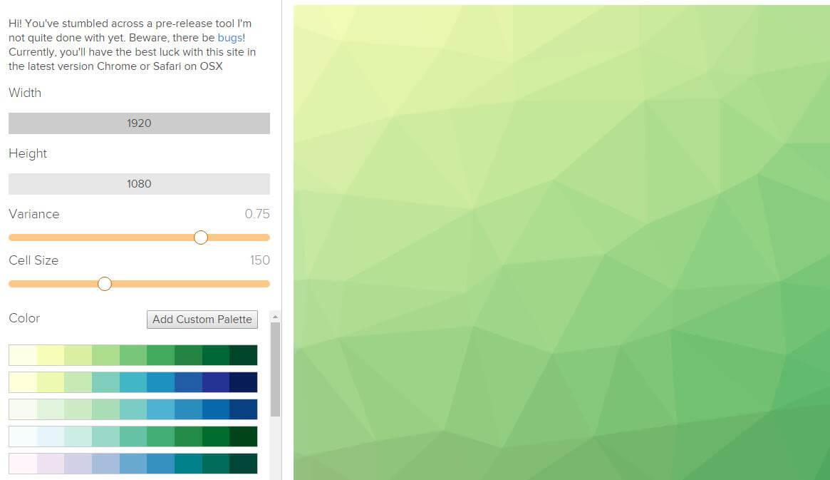 晶格化多边形背景在线制作-橘子皮